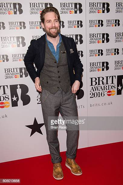 ONLY] Ricky Wilson attends the nominations launch for The Brit Awards 2016 at ITV Studios on January 14 2016 in London England