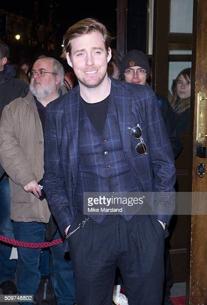 Ricky Wilson attends the World Premiere of 'End Of Longing' written by and starring Matthew Perry at Playhouse Theatre on February 11 2016 in London...
