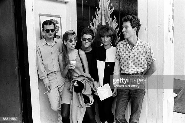 Ricky Wilson, Cindy Wilson, Keith Strickland, Kate Pierson and Fred Schneider of The B-52's pose in 1980 in San Francisco, California.