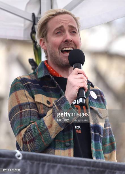 Ricky Wilson during the #March4Women 2020 on March 08 2020 in London England The event is to mark International Women's Day