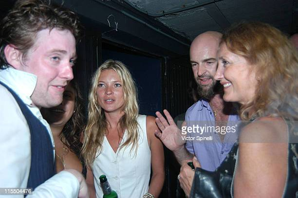 Ricky Wilson from Kaiser Chiefs Kate Moss and Mike Manumission