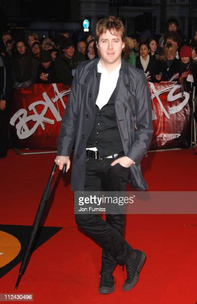 Ricky Wilson from the Kaiser Chiefs during The Mastercard Brit Awards 2007 Outside Arrivals at Earl's Court in London Great Britain