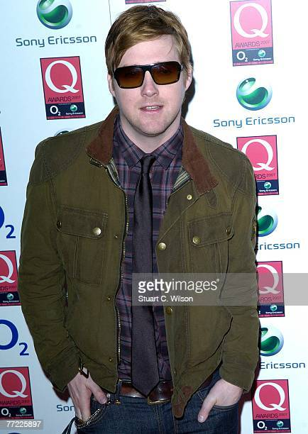 Ricky Wilson lead singer of the Kaiser Chiefs attends the Q Awards 2007 at the Grosvenor House Park Lane on October 08 2007 in London England