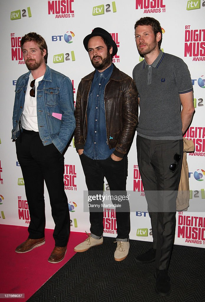 Ricky Wilson, Nick Baines and Simon Rix of Kaiser Chiefs attends BT Digital Music Awards at The Roundhouse on September 29, 2011 in London, England.
