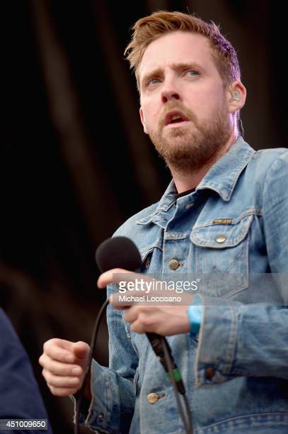 Ricky Wilson of Kaiser Chiefs performs onstage during day 3 of the Firefly Music Festival on June 21 2014 in Dover Delaware