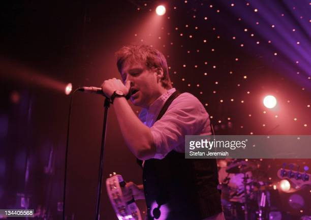Ricky Wilson of The Kaiser Chiefs during The Kaiser Chiefs in Concert at Shepard's Bush Empire March 2 2007 at Shepard's Bush Empire in London Great...