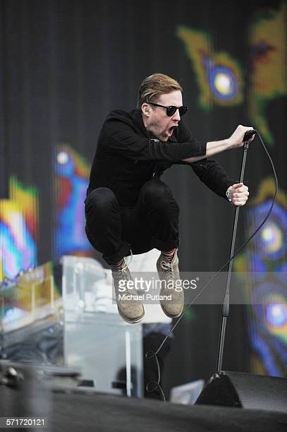 Ricky Wilson of the Kaiser Chiefs performs at the Barclaycard British Summertime gigs at Hyde Park on June 26 2015 in London England
