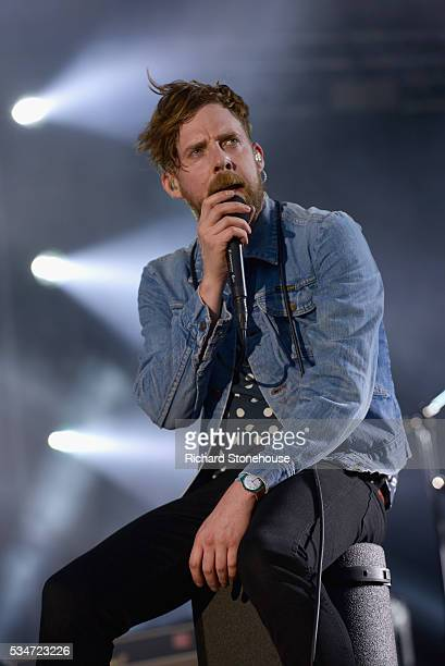 Ricky Wilson of the Kaiser Chiefs performs live during 'MTV Crashes Coventry' at Ricoh Arena on May 27 2016 in Coventry England