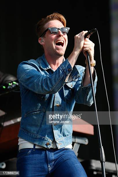 Ricky Wilson of the Kaiser Chiefs performs live on stage during day one of 'British Summer Time Hyde Park' presented by Barclaycard at Hyde Park on...