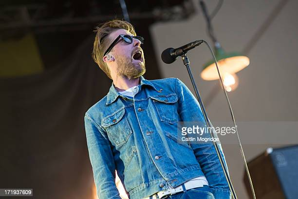 Ricky Wilson of The Kaiser Chiefs performs on stage at Eden Sessions 2013 at The Eden Project on June 29 2013 in St Austell England