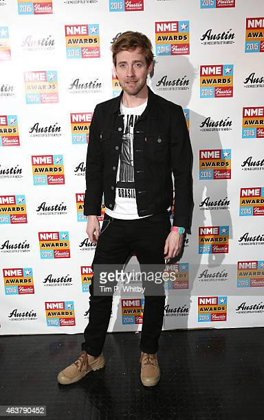 Ricky Wilson poses in the winner's room at the NME Awards at Brixton Academy on February 18 2015 in London England