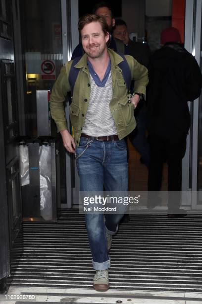 Ricky Wilson seen leaving BBC Radio 2 on July 19 2019 in London England