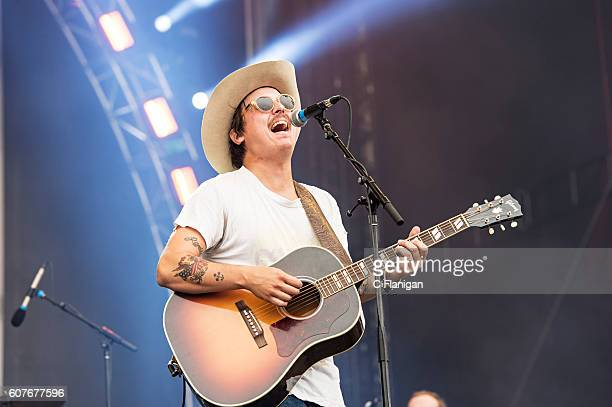 Ricky Young of The Wild Feathers performs on the Sunset Cliffs Stage during the 2016 KAABOO Del Mar at the Del Mar Fairgrounds on September 18 2016...