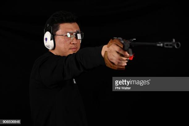 Ricky Zhao poses during the NZOC Commonwealth Games headshots session on September 22 2017 in Auckland New Zealand
