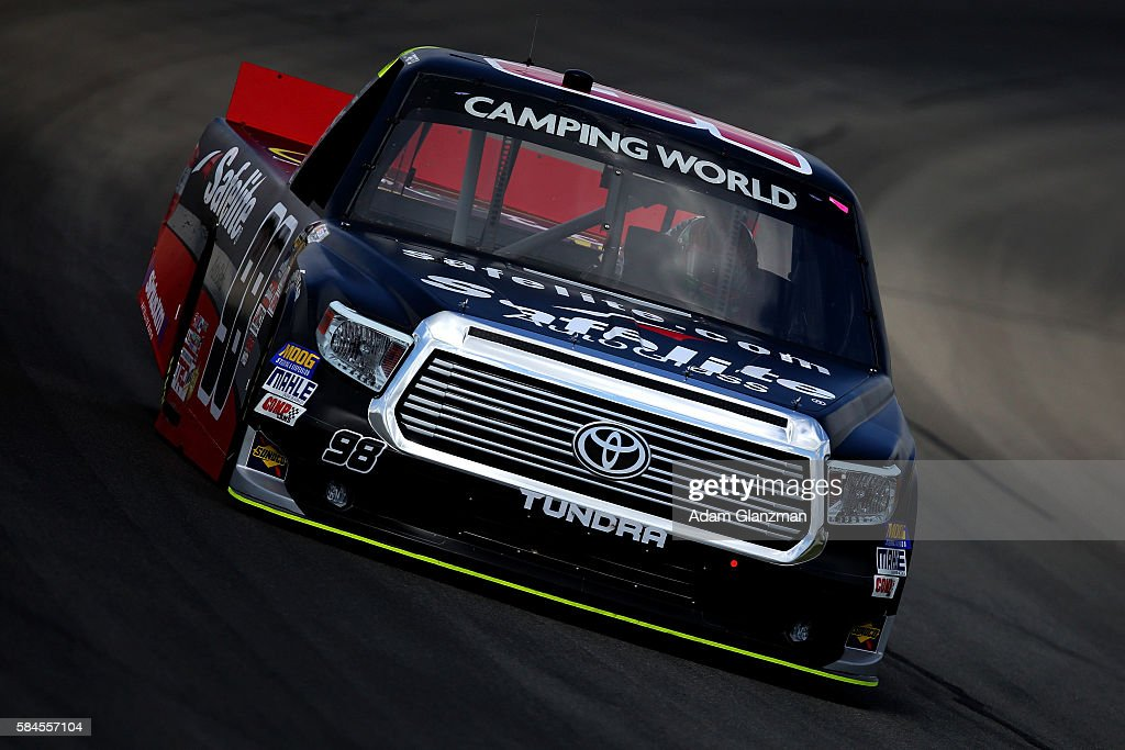 Rico Abreu Driver Of The Safelite Auto Glass/Curb Records Toyota Drives  During Practice For