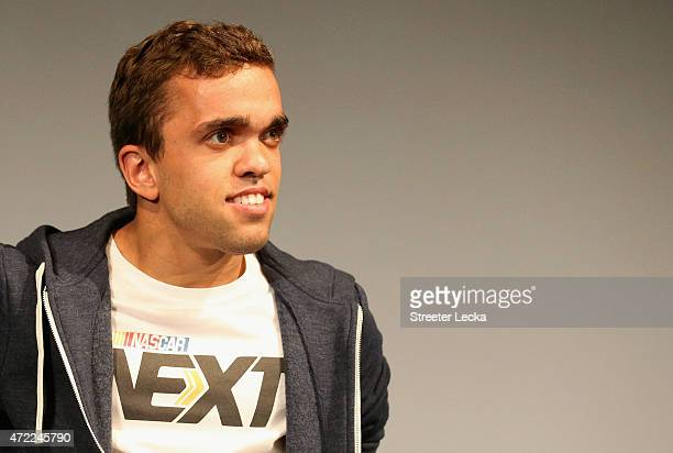 Rico Abreu watches on as he is announced during the 20152016 NASCAR Next Class at NASCAR Hall of Fame on May 5 2015 in Charlotte North Carolina