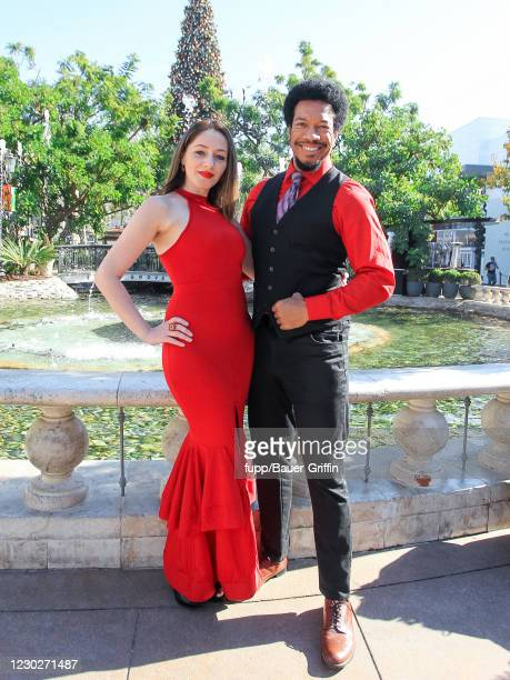 Rico E. Anderson and Sasha Kerbel are seen on December 22, 2020 in Los Angeles, California.