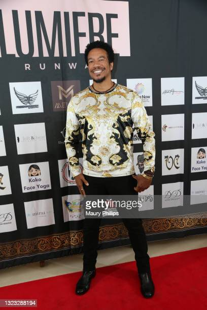 Rico E. Anderson attends Lumiere Runway Fashion Show on June 12, 2021 in Bel Air, California.
