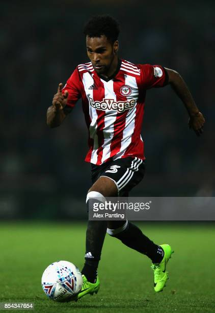 Rico Henry of Brentford in action during the Sky Bet Championship match between Brentford and Derby County at Griffin Park on September 26 2017 in...