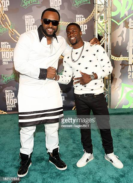 Rico Love and Kevin Hart attend the BET Hip Hop Awards 2013 at Boisfeuillet Jones Atlanta Civic Center on September 28, 2013 in Atlanta, Georgia.