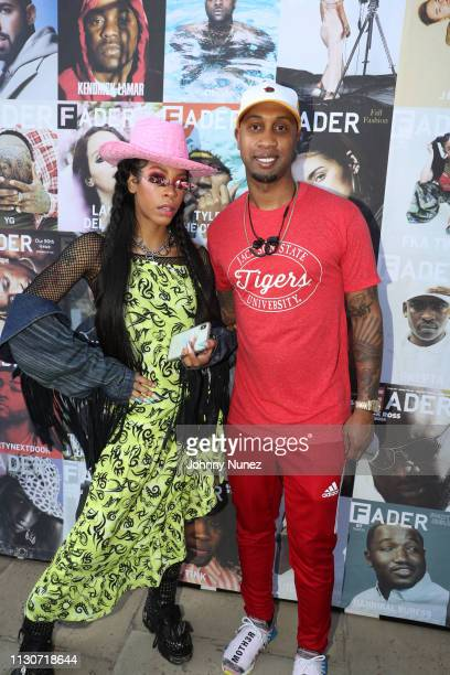 Rico Nasty and Cortez Bryant attend Fader Fort 2019 Day 2 on March 14 2019 in New York City