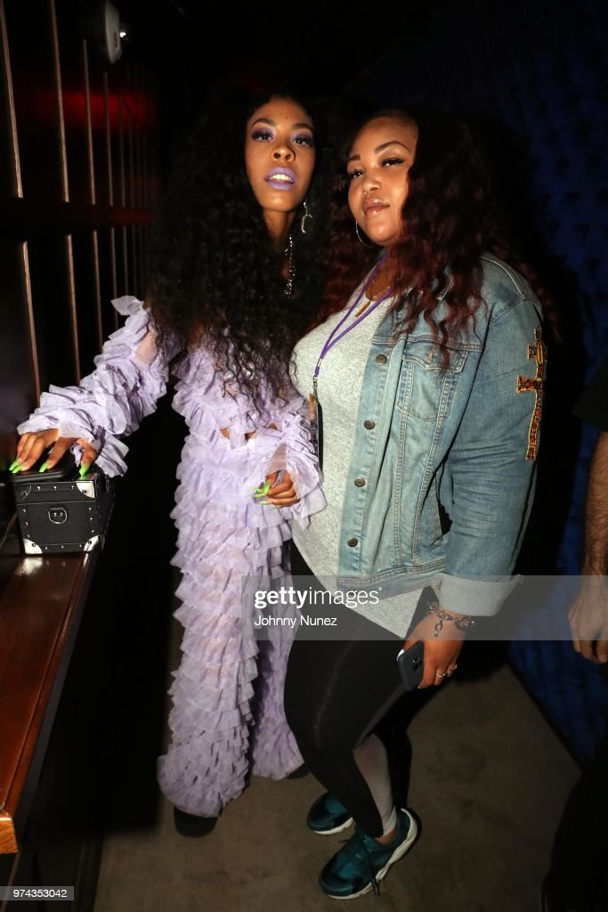 Rico Nasty (L) and designer Ashley Campbell attend the Atlantic Records Access Granted Showcase on June 13, 2018 in New York City.