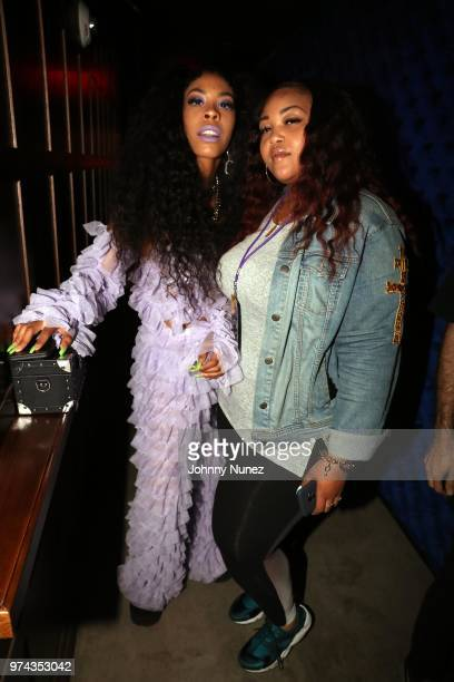 Rico Nasty and designer Ashley Campbell attend the Atlantic Records Access Granted Showcase on June 13 2018 in New York City