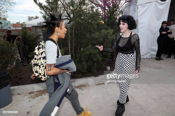 Rico Nasty and Heather BaronGracie attend The Fader Fort 2018 Day 3 on March 16 2018 in Austin Texas
