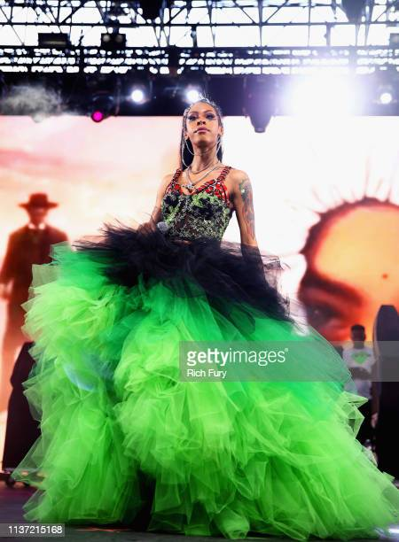 Rico Nasty performs at Mojave Tent during the 2019 Coachella Valley Music And Arts Festival on April 14 2019 in Indio California