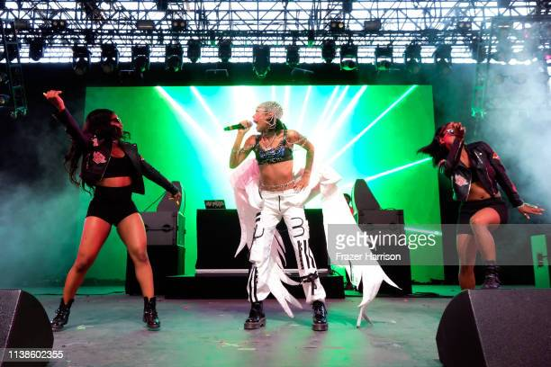 Rico Nasty performs at Mojave Tent during the 2019 Coachella Valley Music And Arts Festival on April 21 2019 in Indio California