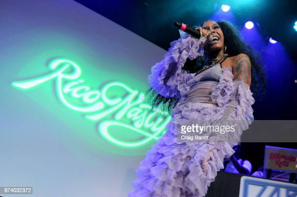 Rico Nasty performs onstage at the Atlantic Records 'Access Granted' Showcase on June 13 2018 in New York City