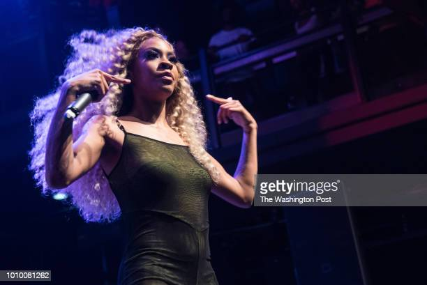 Rico Nasty performs Tuesday evening at the Fillmore Silver Spring