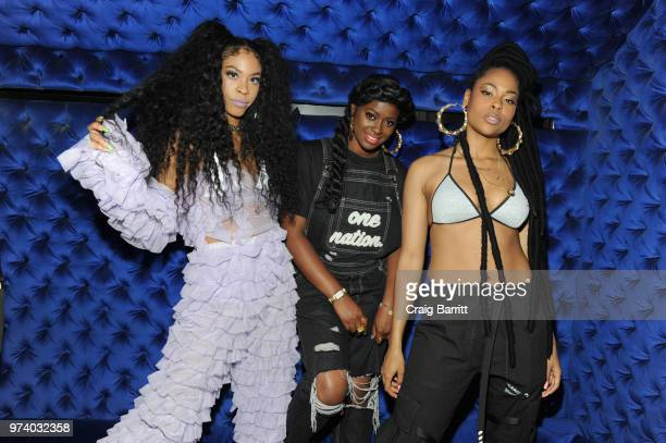 Rico Nasty Tierra Whack and Bri Steves attend the Atlantic Records 'Access Granted' Showcase on June 13 2018 in New York City