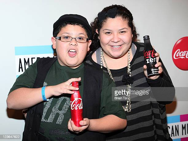 Rico Rodriguez and Raini Rodriguez attend 2010 American Music Awards preparty charity bowl tournament at Lucky Strike Lanes at LA Live on November 20...