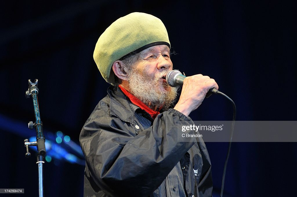 Rico Rodriguez of Jools Holland and his Rhythm and Blues Orchestra performs on stage at Kew Gardens on July 12, 2013 in London, England.
