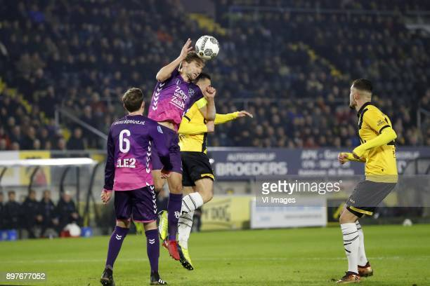 Rico Strieder of FC Utrecht Willem Janssen of FC Utrecht Giovanni Korte of NAC Breda Rai Vloet of NAC Breda during the Dutch Eredivisie match between...