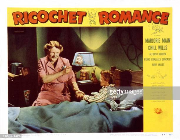 Ricochet Romance US lobbycard from left Marjorie Main Lee Aaker 1954