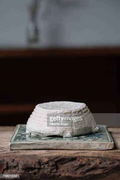 Ricotta cheese on ceramic tile