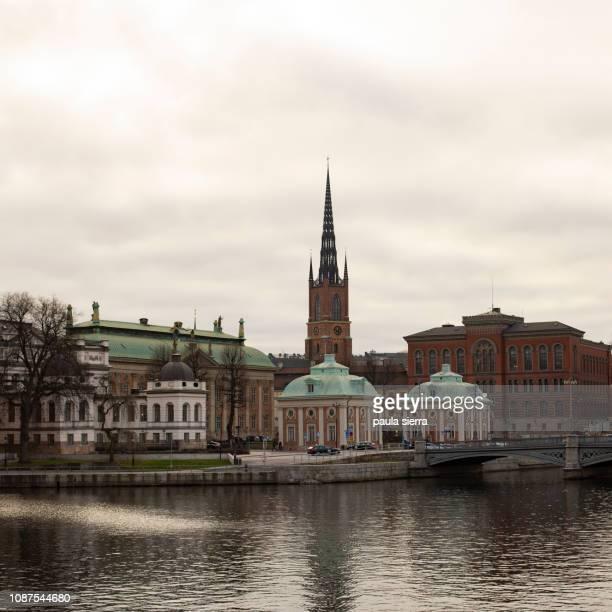 riddarholm church - riddarholmkirche stock-fotos und bilder