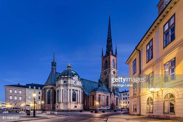 riddarholmen church, stockholm, sweden - iglesia de riddarholmen fotografías e imágenes de stock