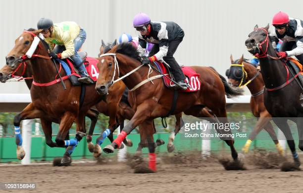 EXULTANT ridden by Zac Purton won the barrier trial batch 10 over 1200Metres at Sha Tin CHAMPION PRIDE ridden by Alexis Badel 12DEC17