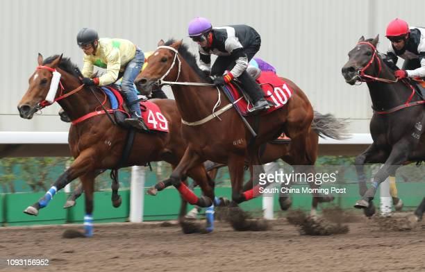 ridden by Zac Purton won the barrier trial batch 10 over 1200Metres at Sha Tin CHAMPION PRIDE ridden by Alexis Badel 12DEC17