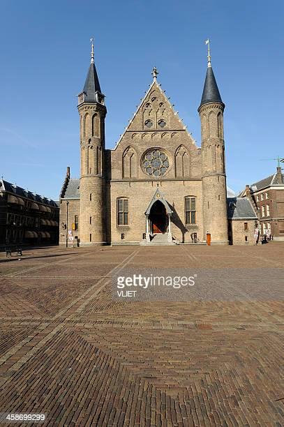 ridderzaal at binnenhof in the hague - den haag stockfoto's en -beelden