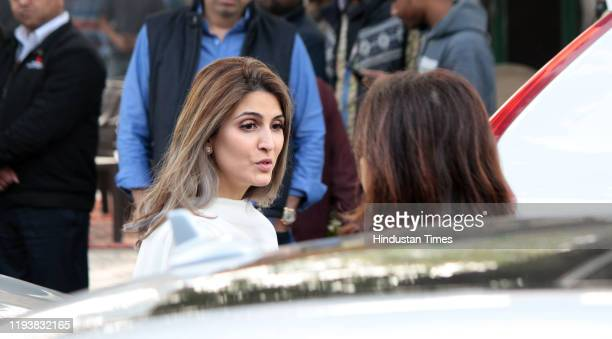Riddhima Kapoor Sahni at the funeral of Ritu Nanda at Lodhi Road Crematorium on January 14 2020 in New Delhi India Ritu Nanda daughter of the...