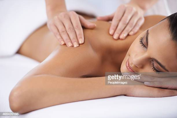 ridding myself of some tension - massage stock photos and pictures