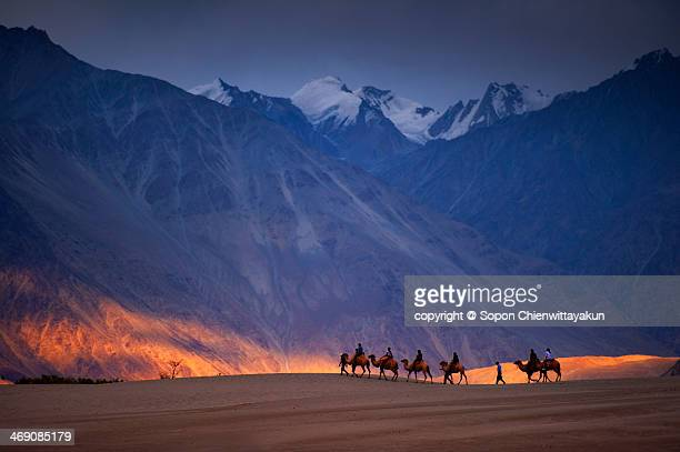 ride of the dream - kashmir stock photos and pictures
