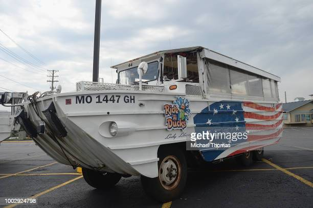 Ride The Ducks World War II DUKW boat is seen at Ride The Ducks on July 20 2018 in Branson Missouri Hundreds of mourners stopped by the location to...
