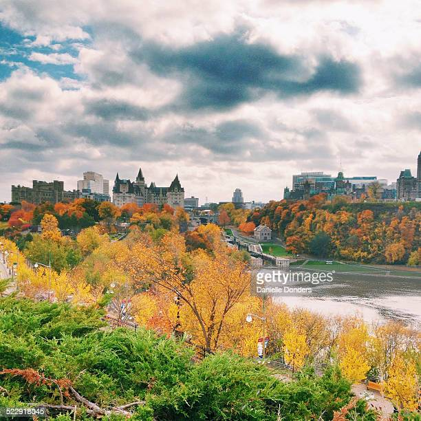 Rideau Canal and downtown Ottawa in autumn