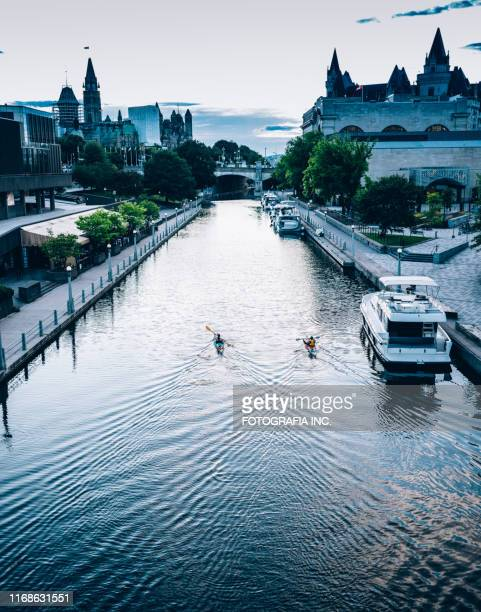 rideau canal architecture in ottawa - ottawa stock pictures, royalty-free photos & images