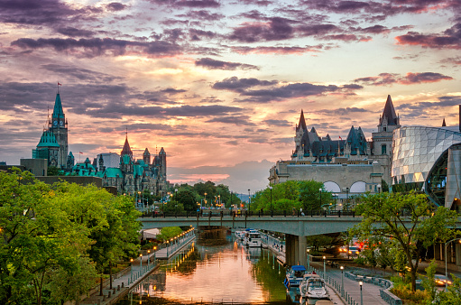 Rideau Canal at Sunset 472209533